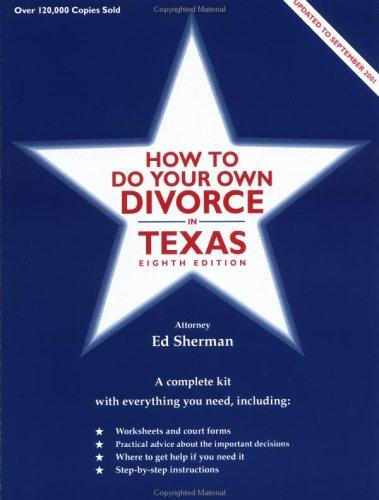 Download How to do your own divorce in Texas