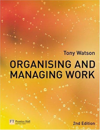 Organising & Managing Work