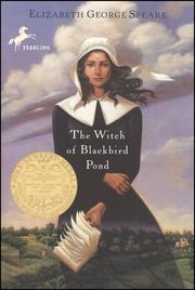 Book Cover: 'The Witch of Blackbird Pond' by  Elizabeth George Speare