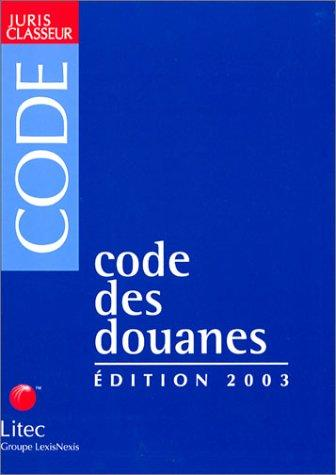 Download Code des douanes 2003