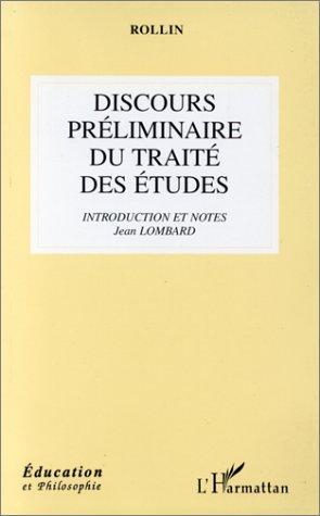 Download Discours préliminaire du Traité des études
