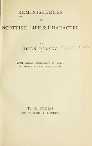 Reminiscences of Scottish life & character