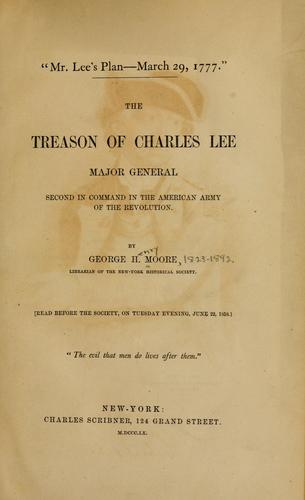 """Mr. Lee's plan–March 29, 1777"""