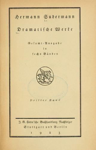 Dramatische Werke.