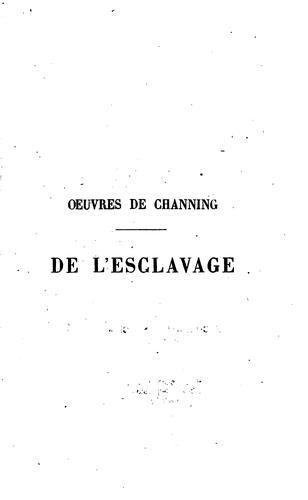 Download De l'esclavage