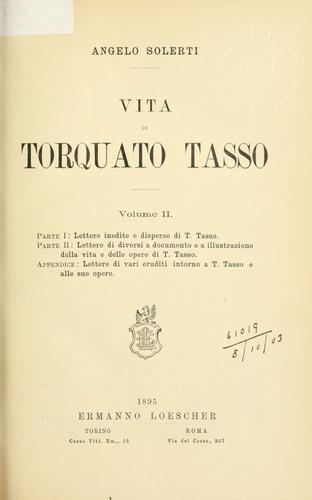 Download Vita di Torquato Tasso.