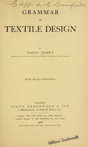 Grammar of textile design