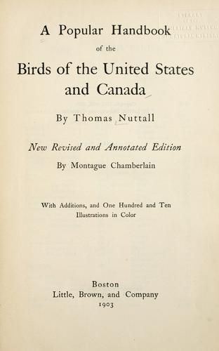 Download A popular handbook of the birds of the United States and Canada