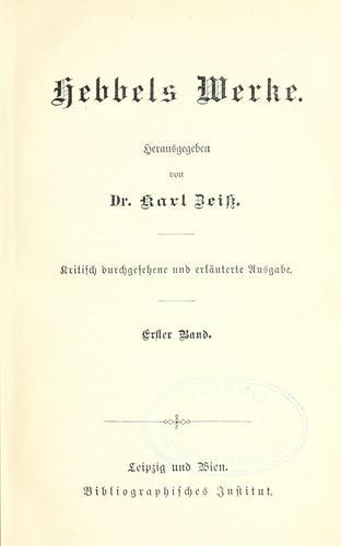 Hebbels Werke