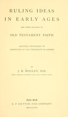 Ruling ideas in early ages and their relation to Old Testament faith