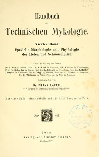 Handbuch der technischen Mykologie