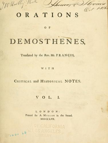 Orations of Demosthenes