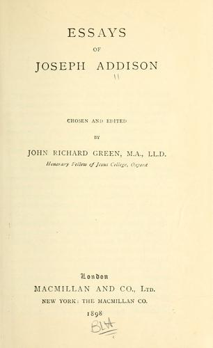 Essays of Joseph Addison