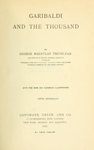 Download Garibaldi and the thousand