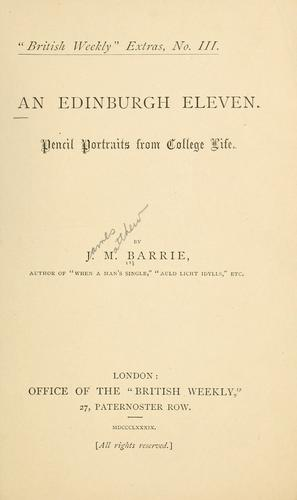 Download An Edinburgh eleven