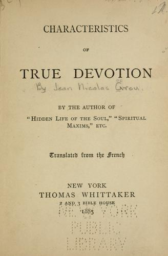 Download Characteristics of true devotion