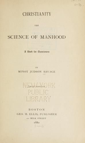 Download Christianity the science of manhood