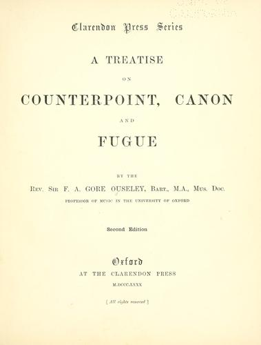 Download A treatise on counterpoint, canon and fugue