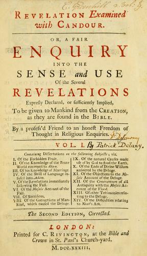 Revelation examined with candour
