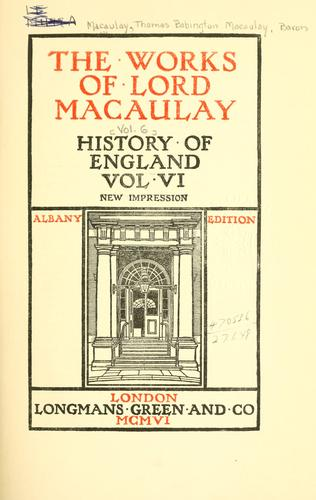 Download The works of Lord Macaulay.
