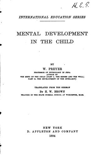 Mental development in the child
