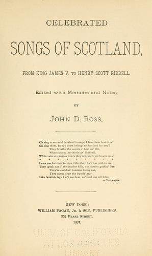 Download Celebrated songs of Scotland