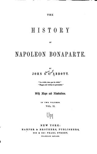 Download The history of Napoleon Bonaparte.