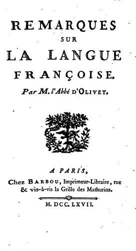 Remarques sur la langue françoise.