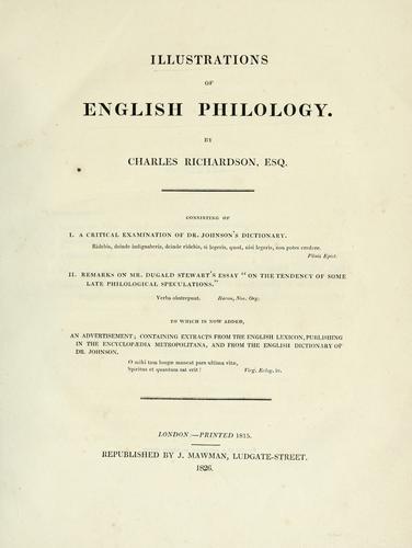 Illustrations of English philology