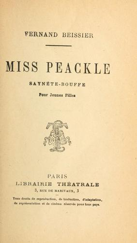 Miss Peackle