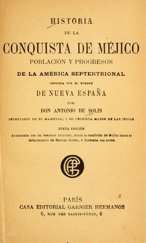 Download Historia de la conquista de Méjico