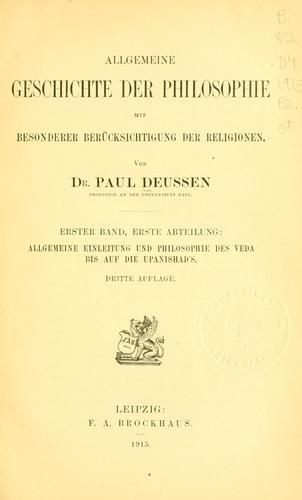 Download Allgemeine geschichte der philosophie