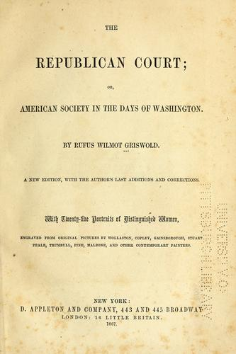 Download The Republican court