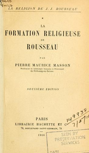 La religion de J.J. Rousseau