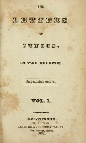 The letters of Junius.