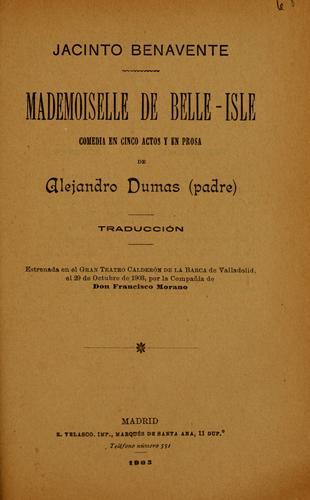 Download Mademoiselle de Belle-Isle