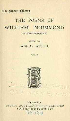 The poems of William Drummond of Hawthornden