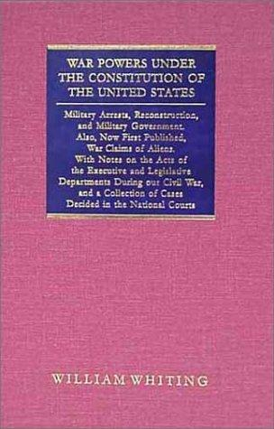 Download War powers under the Constitution of the United States