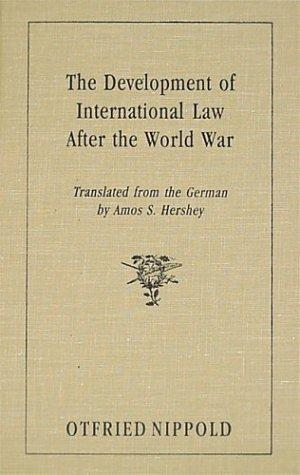 Download The development of international law after the World War