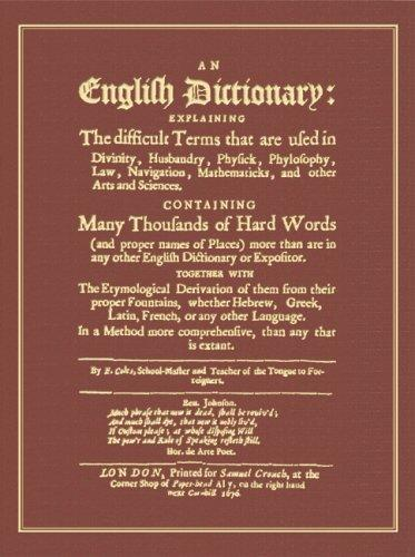 Download An English dictionary