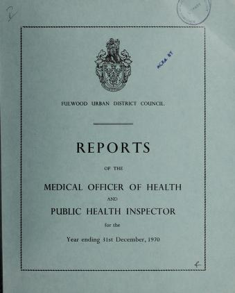 Cover of: [Report 1970] by Fulwood (England). Urban District Council