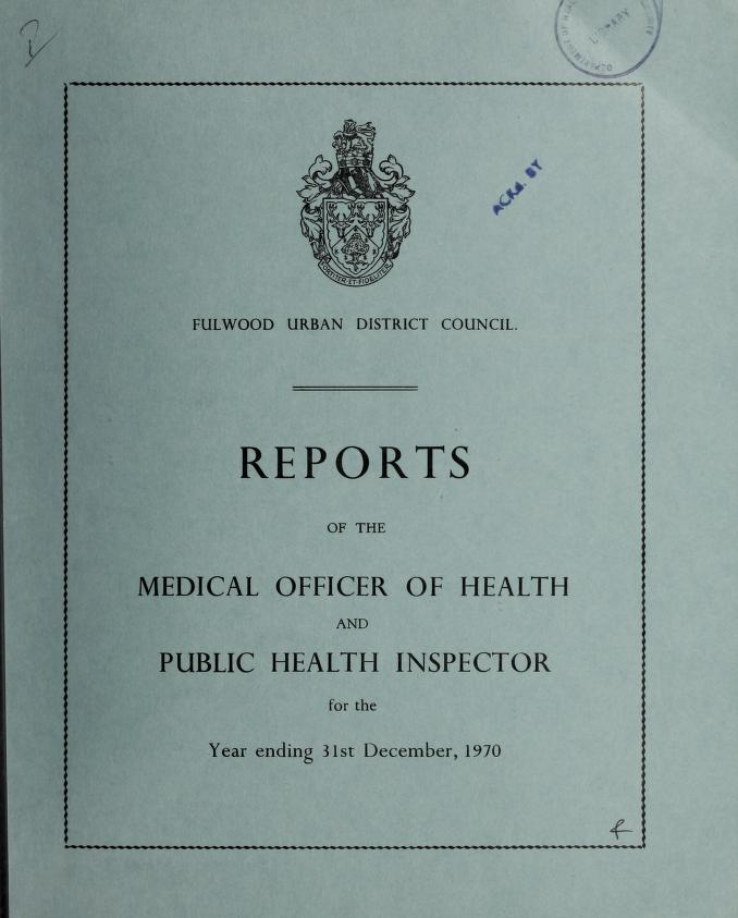 [Report 1970] by Fulwood (England). Urban District Council