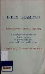 Cover of: Index islamicus | J.D Pearson