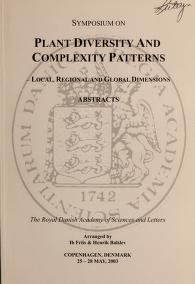 Cover of: Symposium on Plant Diversity and Complexity Patterns | Symposium on Plant Diversity and Complexity Patterns (2003 Copenhagen, Denmark)
