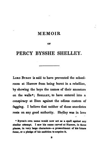 The Shelley Papers by Percy Bysshe Shelley