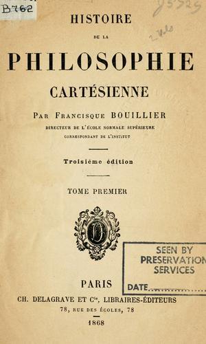 Histoire de la philosophie Cartésienne