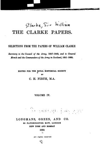 The Clarke papers.