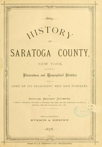 History of Saratoga County, New York by Nathaniel Bartlett Sylvester