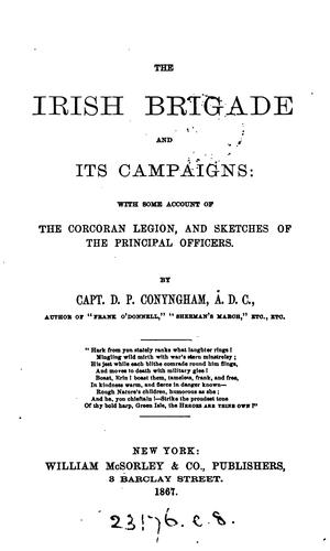 The Irish brigade and its campaigns