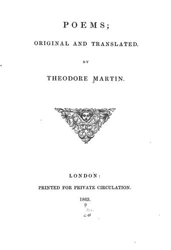 Poems by Martin, Theodore Sir